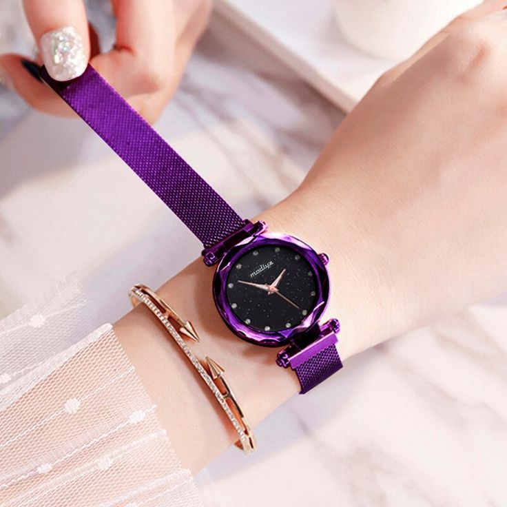 Drop shipping Women's Watch Luxury Diamond Fashion Ladies Starry Sky Mesh Watch montre femme Waterproof Gift Clock reloj mujer