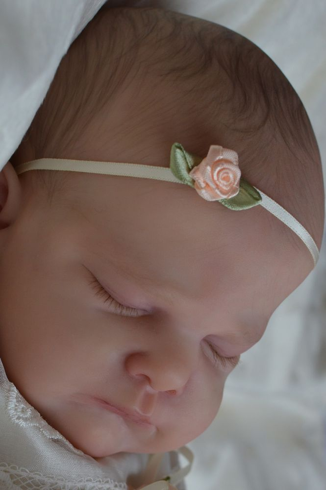 MARIAN ROSS Reborn Baby Girl Doll GENEVIEVE Cassie Brace Limited Edition