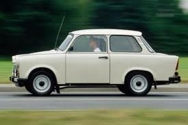 Trabant or Trabi. A former East German 2 stroke car made of plastic!