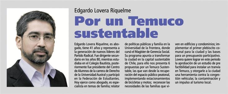 Diario Austral TEMUCO  Domingo 30 de Septiembre 2012  Edición Especial Elecciones Municipales