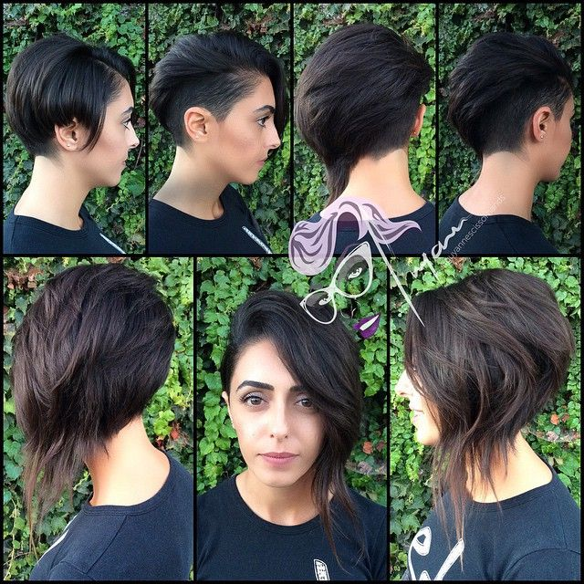 All sizes | Did this awesome new cut on ❤️❤️ @annetteyourpet ❤️❤️ yesterday on #periscope  who was there ??? #haircut #assymetriccut #undercut #sidecut #texturedhair | Flickr - Photo Sharing!