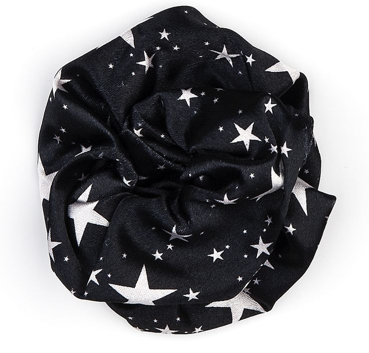 Stars hair accessories black and white top quality made in italy - Accessori per capelli neri con stelle bianche e brillanti, ottima qualità, prodotte in italia