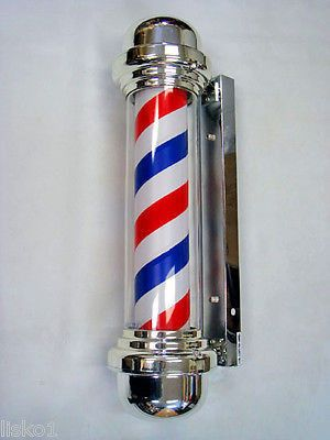"""ASCOT _ 29"""" BARBER POLE, INCLUDES FREE REPLACEMENT BULB, INDOOR/OUTDOOR"""