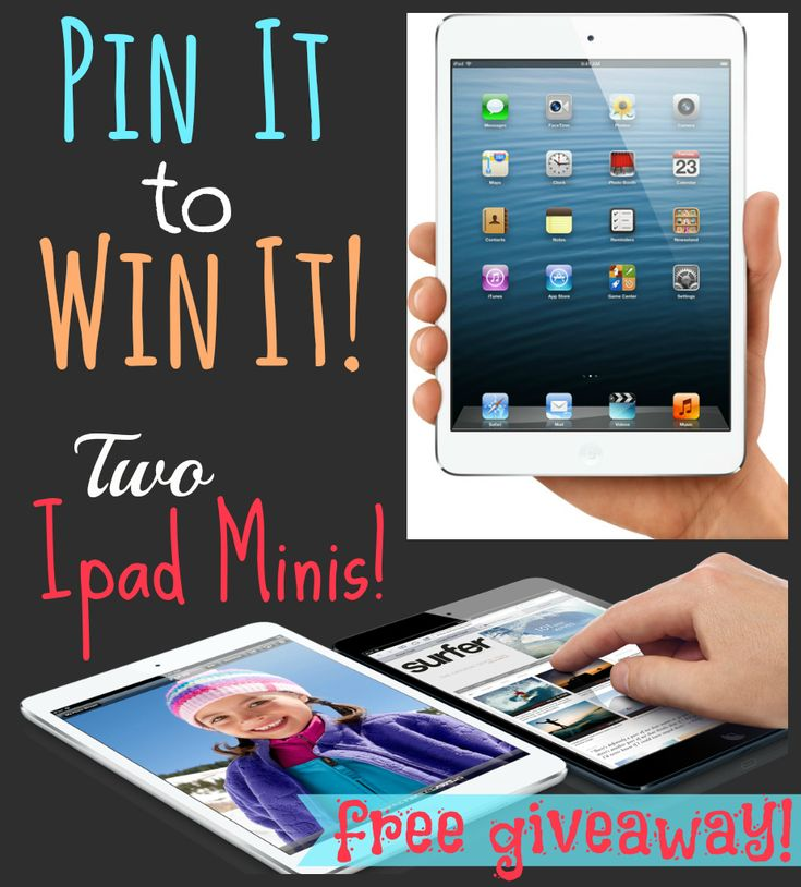 GIVEAWAY!!!  Pin It To Win It!  An ipad mini for TWO lucky winners!!! from favfamilyrecipes.com  See post for details #giveaway #ipadmini