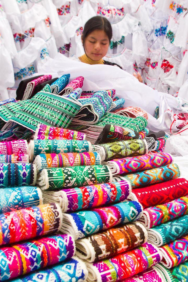 Colorful belts from Ecuador. shopfaire.com