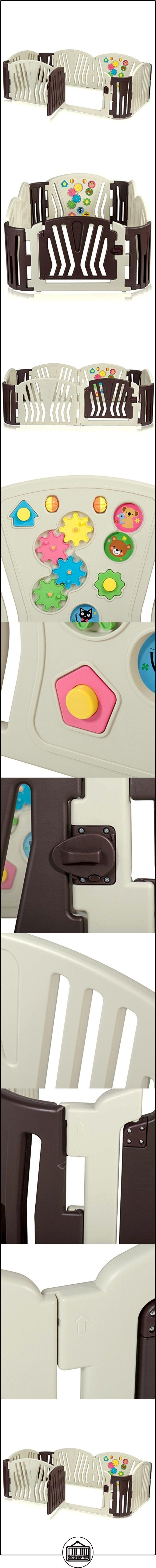 BABY VIVO Parque corralito plegable puerta robusto plastico bebe barrera de seguridad jugar Brown  ✿ Seguridad para tu bebé - (Protege a tus hijos) ✿ ▬► Ver oferta: http://comprar.io/goto/B06WW4NK2C