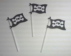 Toppers para doces bandeira pirata