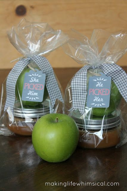"""Making Life Whimsical: Dip into #Fall! """"She Picked Him"""" - """"He Picked Her"""". #Wedding #Favors - Forever Friends Fine Stationery & Favors http://foreverfriendsfinestationeryandfavors.com"""