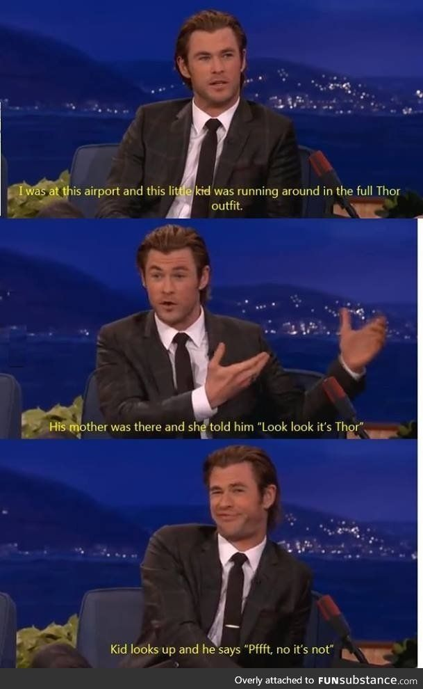 Poor Chris Hemsworth, but this is hilarious!