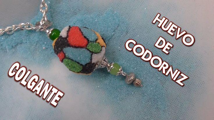 DIY COLLAR DE HUEVO DE CODORNIZ - PENDANT MADE WITH QUAIL EGG