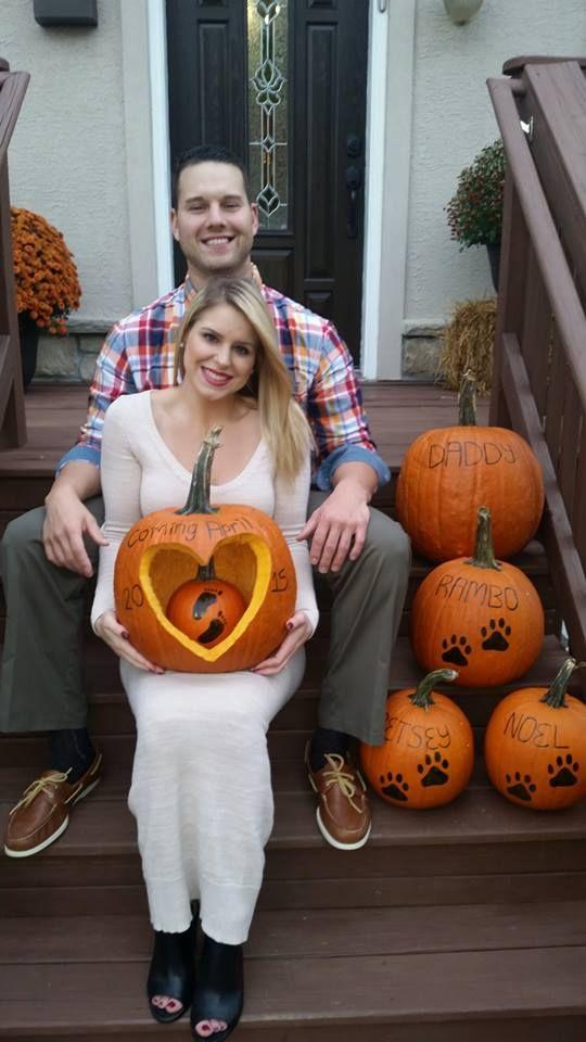 October Pumpkins Pregnancy Announcement