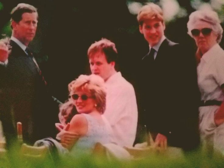 Prince Charles, Princess Diana and Prince William, 1997