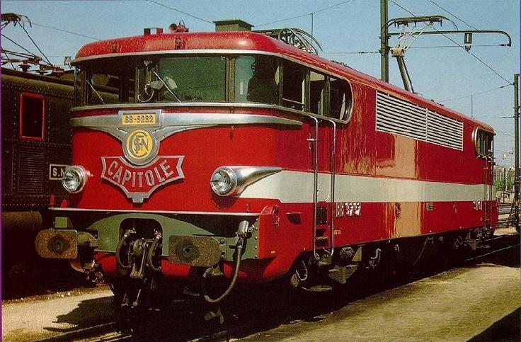 La BB 9292 en livrée Capitole (vers 1970)