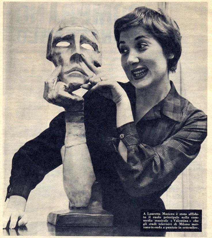 Lauretta Masiero. Magazine clipping, 1950s.
