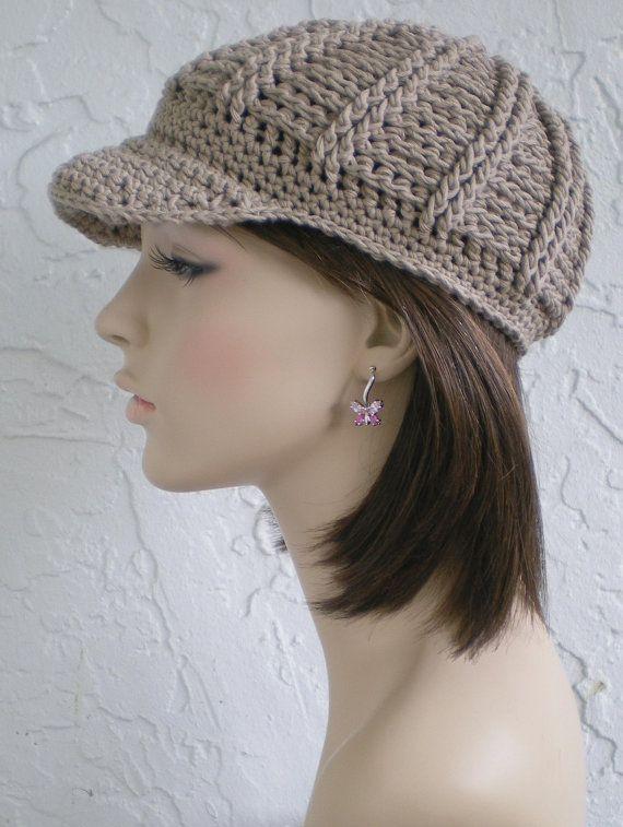 knit baseball cap newsboy hat beige cable cap d