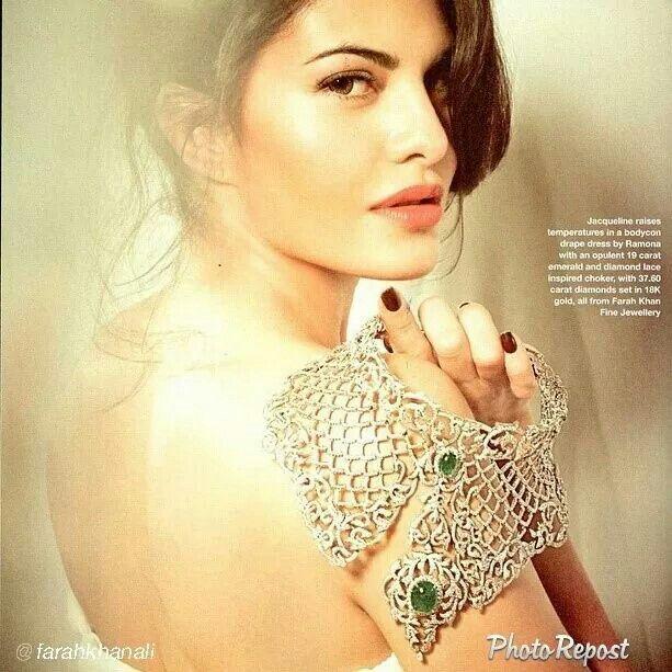 "By @farah g Khan ""She's so beautiful @Antonin Bvo Tan @aslijacqueline #farahkhanfinejewellery #fkfjdesign #fkfj #helloindiamagazine"" via @PhotoRepost_app"