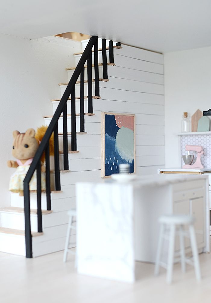 I'm so excited to share with you my Little Modern Farmhouse kitchen and to see what everyone else has been up to with their dollhouses (you...