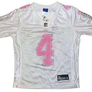Green Bay Packers Brett Favre #4 NFL Womens Fashion Jersey, White and Pink