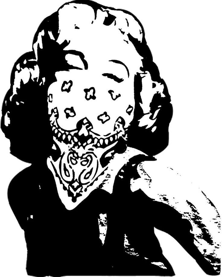 Marilyn Monroe Gangster Art/Photography Pinterest