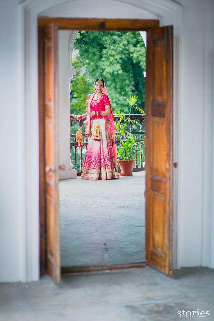ombre bridal lehanga