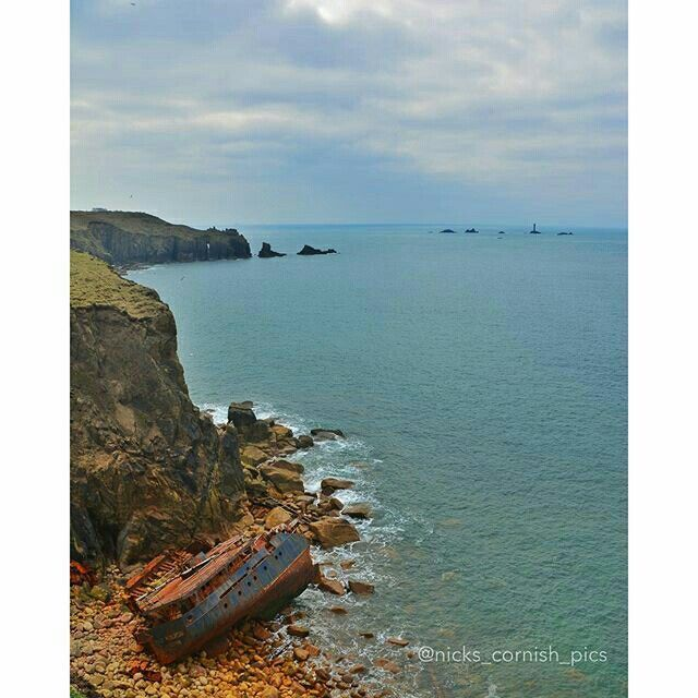 The wreck of RMS Mulheim at Castle Zawn (between Land's End & Sennen, Cornwall).