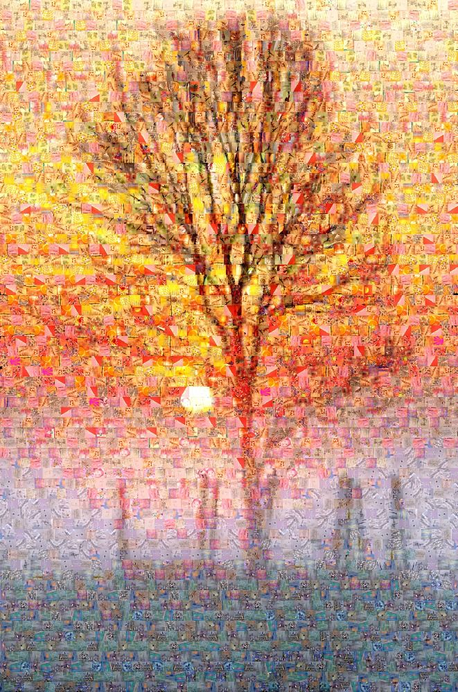 Winter Sunset - Photo Mosaic - 3,200 Tiles.