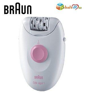 Braun Silk Epil 1 1170 Legs Epilator For Women (Pink) @ Rs.999/-