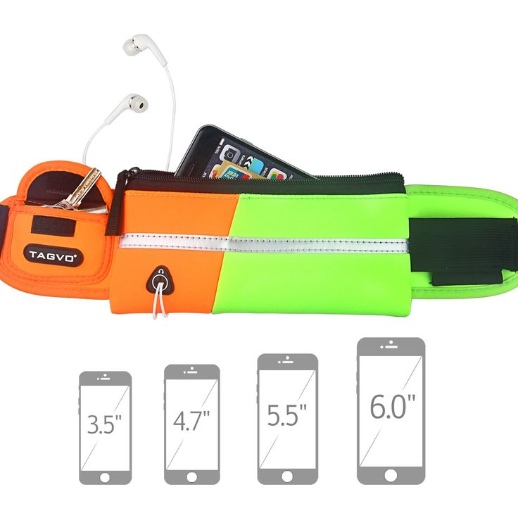 Tagvo Running Waist Pack with Elastic Strap Suitable for All Women Men Anti-bouncing Sweat Proof, Sport Belt with Reflective Patch for Carrying Keys, Cards, ID, Passport, iPhone 6 6s 7 Plus Galaxy. LARGE CAPACITY & SNUG: this running belt has enough room but not bulky to carry your jogging essentials, such as house key, bank cards, cash, passport and large screen size cellphone iPhone 6/6s/7 Plus Samsung Galaxy S6/S5/S4 when you are running, taking exercise, walking the dog, cycling…