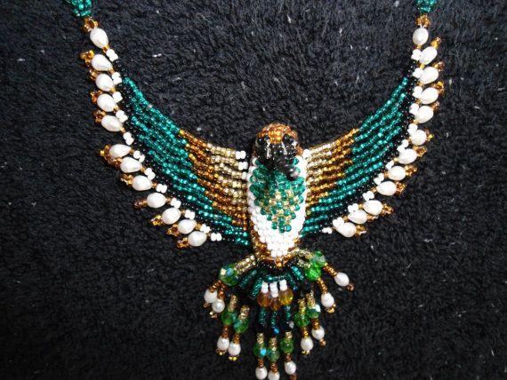 Vintage Native American Beaded Hummingbird by OwlsFlyVintage, $129.95