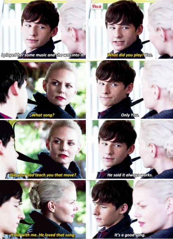 """""""Did your dad teach you that move?"""" - Dark Swan and Henry #OnceUponATime"""