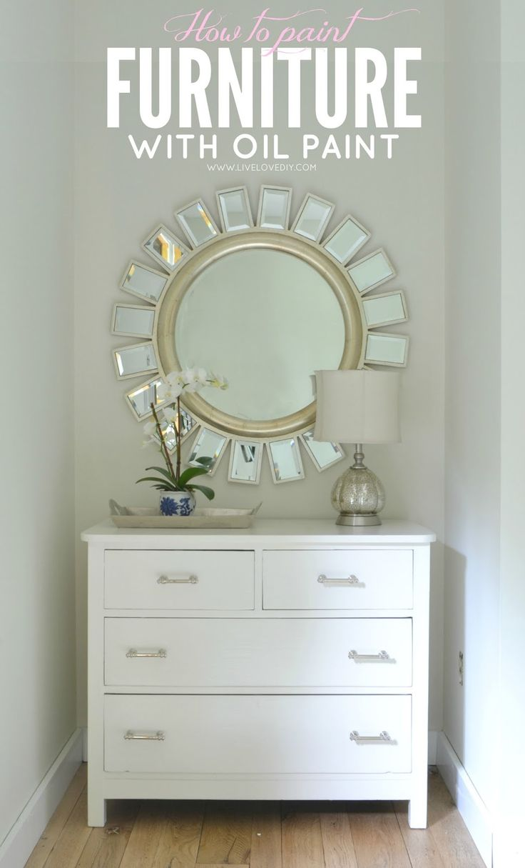 How To Paint Furniture With Oil Paint To Achieve A Super Glossy Professional Finish Ideas For