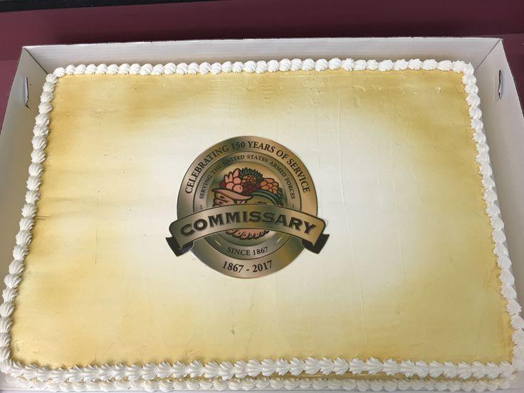 Work: full sheet commissary anniversary cake