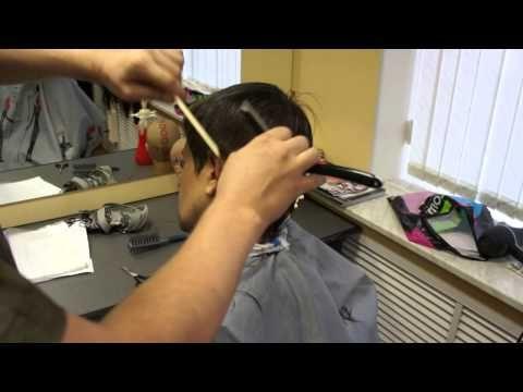 Стрижка Бритвой за расчёской - YouTube