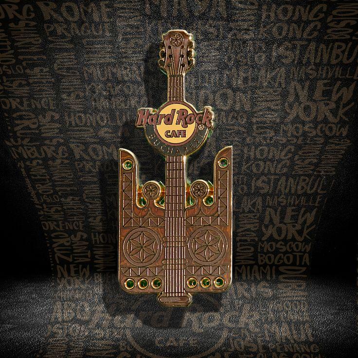 Wood Guitar Pin  #pins #hardrockcafebucharest
