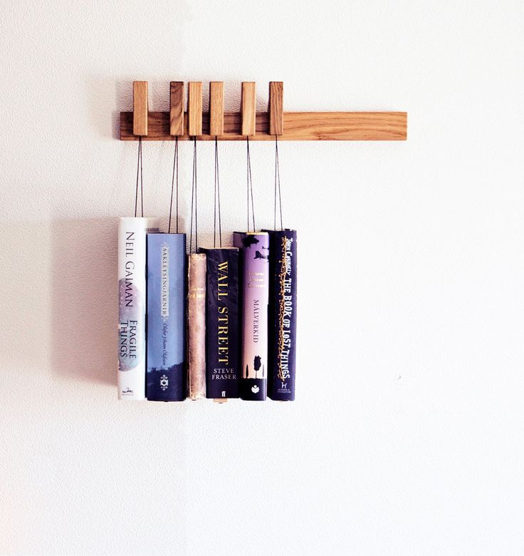 MINI Custom made wooden book rack / magazine rack in Oak / bookshelves by OldAndCold (110.00 USD)