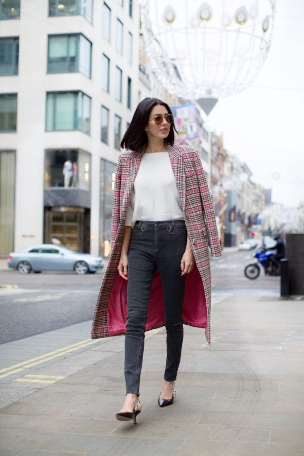 2 Ways to Wear a Tartan/Check/Plaid Winter Coat - Obsessions Now