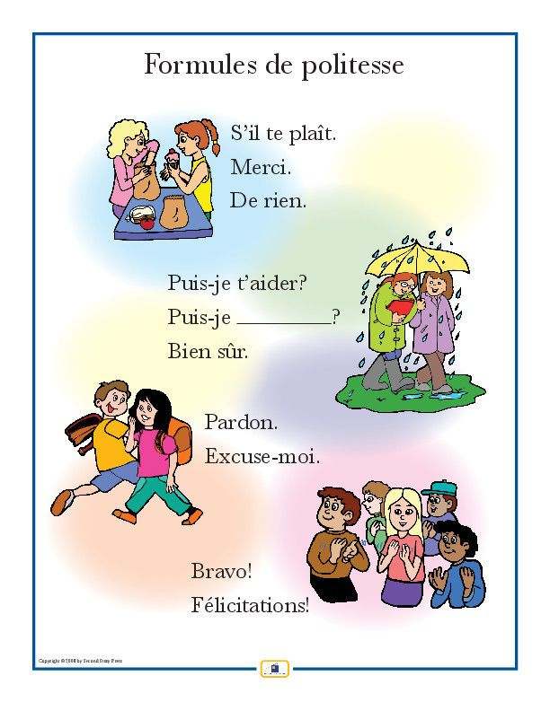 Introduce courtesy expressions with this colorful 18 x 24 in. poster that includes a free guide with teaching suggestions and practice worksheets. Other phrase posters include Greetings, Phrases, and