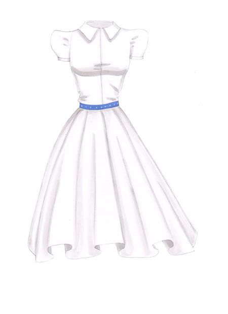 How to draw white fabrics