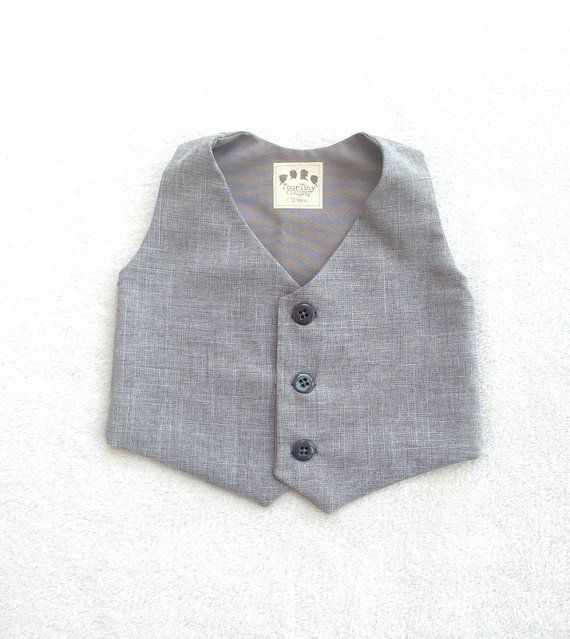 Boys gray vest, Grey waistcoat, Heather gray vest, Ring Bearer vest, ring boy vest, boys waistcoat, Baby vest, Infant vest, Toddler vest