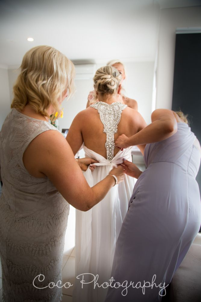 Love the back of this brides dress