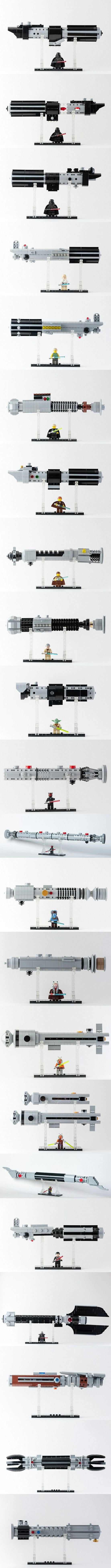LEGO Star Wars Exposed Lightsabers LIKE IT? FOLLOW ME! Thanks! #LEGO #StarWars #Lightsaber