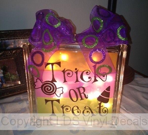 Best GLASS BLOCK DECALS Images On Pinterest Glass Blocks - Halloween vinyl decals for glass blocks