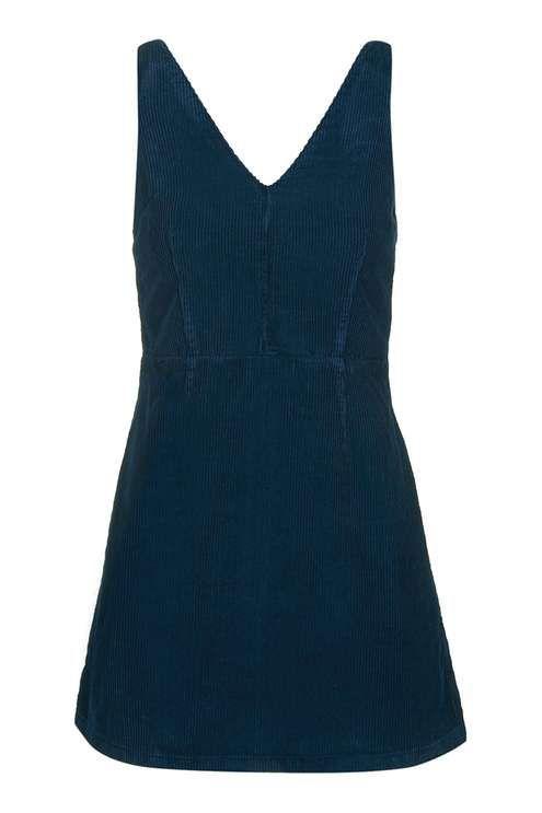 MOTO Cord V Neck Dress
