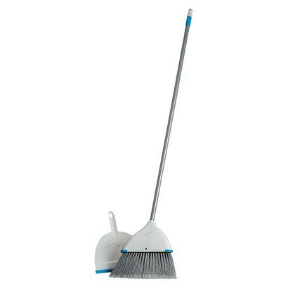 Clorox Blue Angle Broom and Dustpan Set
