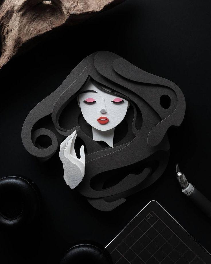 Stunning paper cutout art by @battery_full #designspiration #creative #art #design #illustration - View this Instagram https://www.instagram.com/Designspiration/