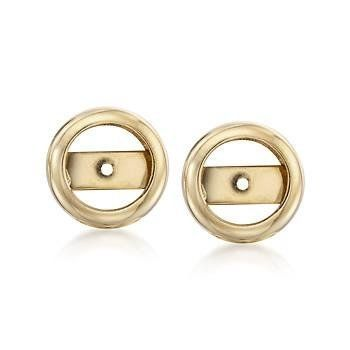 14kt Yellow Gold Bezel-Style Earring Jackets Ross-Simons. $112.50