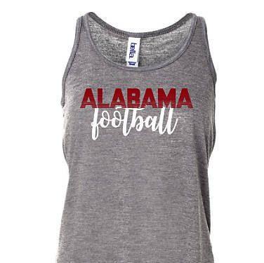Ladies RollTide Tank, College Game Day Tank, Alabama Football Tank Top, Crimson … – Products I Love