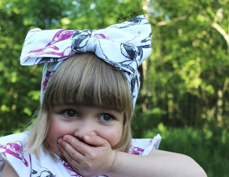 Lintu Bow Headband is just so cute <3 Design, weaving, printing and sewing all made in Finland :)