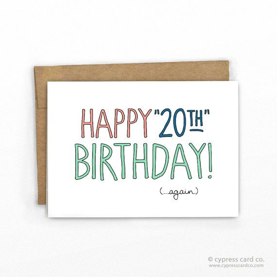 Funny 22nd Birthday Ecards: 25+ Best Ideas About Happy 20th Birthday On Pinterest