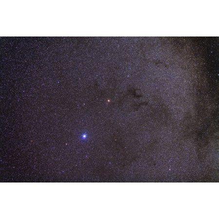 Widefield view of dark nebulae in the Aquila constellation Canvas Art - Alan DyerStocktrek Images (18 x 12)